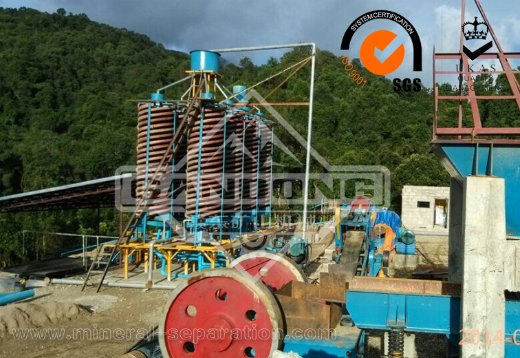 Cassiterite tin ore beneficiation plant in Laos