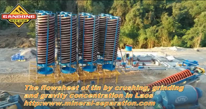 The gravity concentration & magnetic separation plant of tin ore in Laos