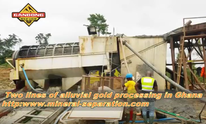 The mobile alluvial gold washing plant in Ghana